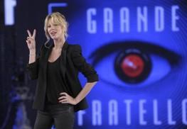 Alessia Marcuzzi durante il photocall prima della conferenza stampa di presentazione della tredicesima edizione del Grande Fratello, negli studi di Cinecitta', 28 febbraio 2014, a Roma.  ANSA/ CLAUDIO ONORATI