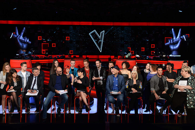 Foto Gian Mattia D'Alberto / LaPresse 03-05-2016, Milano spettacolo conferenza stampa ''The voice' live nella foto:   Photo Gian Mattia D'Alberto / LaPresse 03-05-2016, Milan 'The voice' live press conference In the photo: